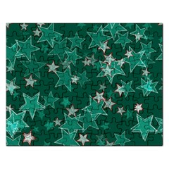 Star Seamless Tile Background Abstract Rectangular Jigsaw Puzzl by Amaryn4rt