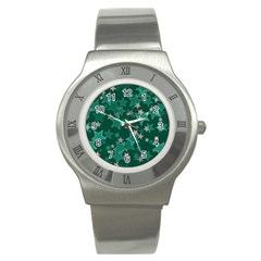 Star Seamless Tile Background Abstract Stainless Steel Watch by Amaryn4rt