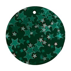Star Seamless Tile Background Abstract Round Ornament (two Sides) by Amaryn4rt