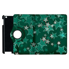 Star Seamless Tile Background Abstract Apple Ipad 2 Flip 360 Case by Amaryn4rt