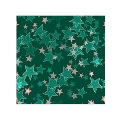Star Seamless Tile Background Abstract Small Satin Scarf (square) by Amaryn4rt