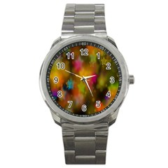 Star Background Texture Pattern Sport Metal Watch by Amaryn4rt