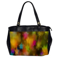 Star Background Texture Pattern Office Handbags (2 Sides)  by Amaryn4rt