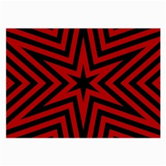 Star Red Kaleidoscope Pattern Large Glasses Cloth (2 Side)