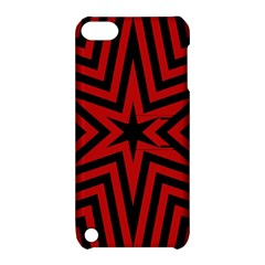 Star Red Kaleidoscope Pattern Apple Ipod Touch 5 Hardshell Case With Stand by Amaryn4rt
