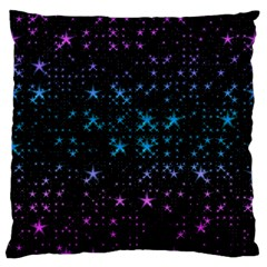 Stars Pattern Seamless Design Large Cushion Case (two Sides) by Amaryn4rt