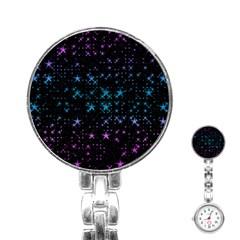 Stars Pattern Seamless Design Stainless Steel Nurses Watch by Amaryn4rt