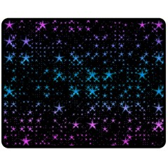 Stars Pattern Seamless Design Double Sided Fleece Blanket (medium)  by Amaryn4rt