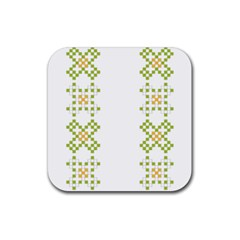Vintage Pattern Background  Vector Seamless Rubber Coaster (square)