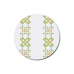 Vintage Pattern Background  Vector Seamless Rubber Coaster (round)  by Amaryn4rt