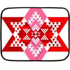 Valentine Heart Love Pattern Double Sided Fleece Blanket (mini)