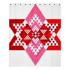 Valentine Heart Love Pattern Shower Curtain 60  X 72  (medium)  by Amaryn4rt