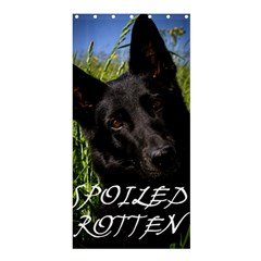 Black German Shepherd Spoiled Rotten Shower Curtain 36  x 72  (Stall)  by TailWags