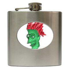Crazy Man Drawing  Hip Flask (6 Oz) by dflcprintsclothing