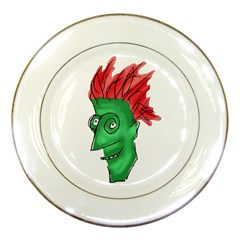 Crazy Man Drawing  Porcelain Plates by dflcprintsclothing