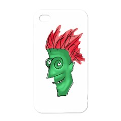 Crazy Man Drawing  Apple Iphone 4 Case (white) by dflcprintsclothing