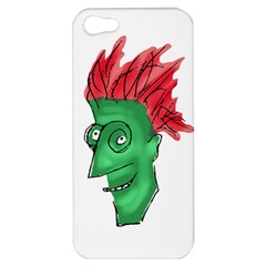 Crazy Man Drawing  Apple Iphone 5 Hardshell Case by dflcprintsclothing