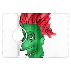 Crazy Man Drawing  Kindle Fire Hdx Flip 360 Case by dflcprintsclothing