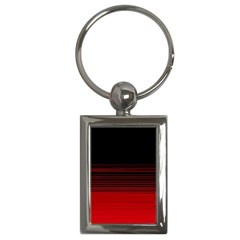 Abstract Of Red Horizontal Lines Key Chains (Rectangle)
