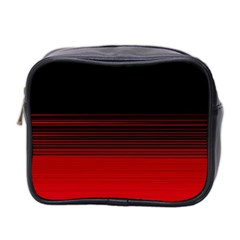 Abstract Of Red Horizontal Lines Mini Toiletries Bag 2 Side by Amaryn4rt