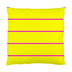 Background Image Horizontal Lines And Stripes Seamless Tileable Magenta Yellow Standard Cushion Case (two Sides) by Amaryn4rt