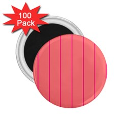 Background Image Vertical Lines And Stripes Seamless Tileable Deep Pink Salmon 2 25  Magnets (100 Pack)