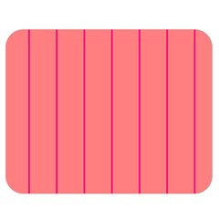 Background Image Vertical Lines And Stripes Seamless Tileable Deep Pink Salmon Double Sided Flano Blanket (medium)  by Amaryn4rt