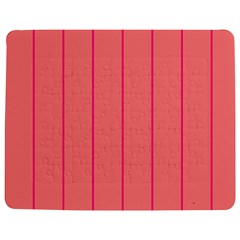 Background Image Vertical Lines And Stripes Seamless Tileable Deep Pink Salmon Jigsaw Puzzle Photo Stand (rectangular) by Amaryn4rt