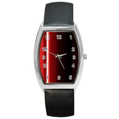 Black And Red Barrel Style Metal Watch by Amaryn4rt