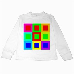 Colors Purple And Yellow Kids Long Sleeve T Shirts by Amaryn4rt