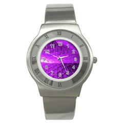 Circular Color Stainless Steel Watch by Amaryn4rt