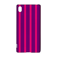 Deep Pink And Black Vertical Lines Sony Xperia Z3+ by Amaryn4rt