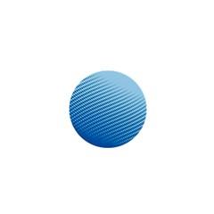 Blue Dot Pattern 1  Mini Magnets
