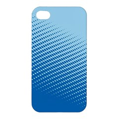 Blue Dot Pattern Apple Iphone 4/4s Hardshell Case by Amaryn4rt