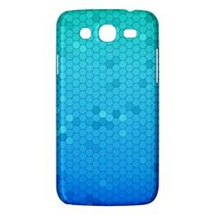 Blue Seamless Black Hexagon Pattern Samsung Galaxy Mega 5 8 I9152 Hardshell Case  by Amaryn4rt