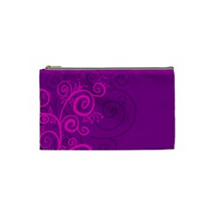 Floraly Swirlish Purple Color Cosmetic Bag (small)  by Amaryn4rt