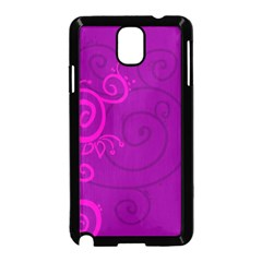 Floraly Swirlish Purple Color Samsung Galaxy Note 3 Neo Hardshell Case (Black) by Amaryn4rt