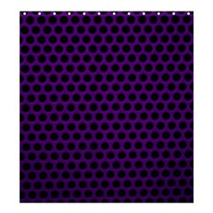 Dark Purple Metal Mesh With Round Holes Texture Shower Curtain 66  X 72  (large)  by Amaryn4rt