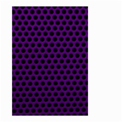 Dark Purple Metal Mesh With Round Holes Texture Small Garden Flag (two Sides)