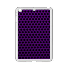 Dark Purple Metal Mesh With Round Holes Texture iPad Mini 2 Enamel Coated Cases by Amaryn4rt