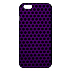 Dark Purple Metal Mesh With Round Holes Texture Iphone 6 Plus/6s Plus Tpu Case by Amaryn4rt