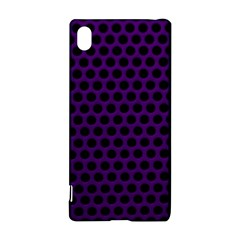 Dark Purple Metal Mesh With Round Holes Texture Sony Xperia Z3+ by Amaryn4rt