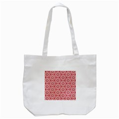 Floral Abstract Pattern Tote Bag (white)