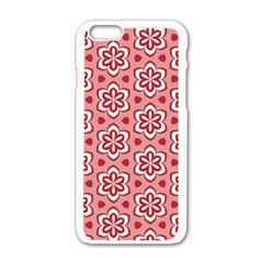 Floral Abstract Pattern Apple Iphone 6/6s White Enamel Case by Amaryn4rt
