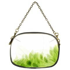 Green Leaves Pattern Chain Purses (one Side)  by Amaryn4rt
