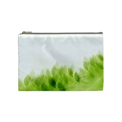 Green Leaves Pattern Cosmetic Bag (medium)  by Amaryn4rt