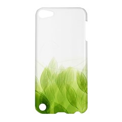 Green Leaves Pattern Apple Ipod Touch 5 Hardshell Case by Amaryn4rt