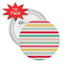 Papel De Envolver Hooray Circus Stripe Red Pink Dot 2 25  Buttons (10 Pack)