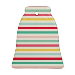 Papel De Envolver Hooray Circus Stripe Red Pink Dot Bell Ornament (two Sides) by Amaryn4rt