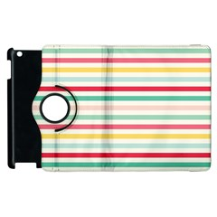Papel De Envolver Hooray Circus Stripe Red Pink Dot Apple Ipad 3/4 Flip 360 Case by Amaryn4rt